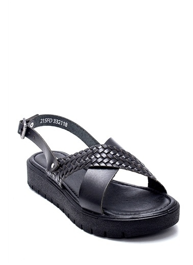 Derimod Kadın Sandalet (332) Casual Siyah